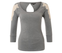 Shirt 'Lace Shirt' grau