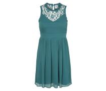 Kleid mit Spitzeneinsatz 'Aya' grün