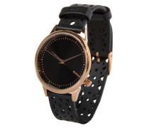 Armbanduhr 'Estelle Cutout' gold / schwarz