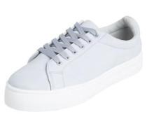 Weißer Sneaker hellblau