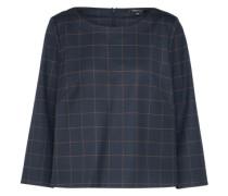 Bluse mit geometrischer Musterung navy