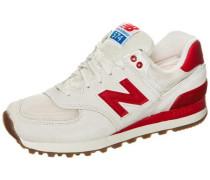 'wl574-Rsa-B' Sneaker Damen creme / rot
