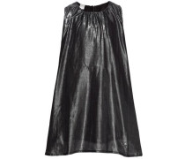 Kleid ohne Ärmel nitchrista glänzend ärmellos schwarz