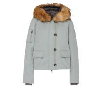 Winterjacke mit Fake Fur Besatz blau