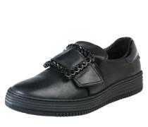 Sneaker mit Schmucksteinen schwarz