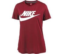 T-Shirt 'Essential High Brand Read' dunkelrot / weiß