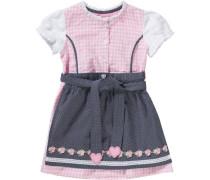 Baby Dirndl blau / pink / weiß