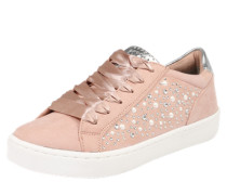 Sneakers mit Perlenverzierung rosé