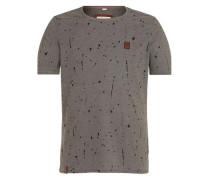 Male T-Shirt 'What's the 411' grau / schwarz