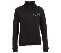 'Fusion Turtleneck' Sweatshirt schwarz