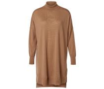 Strickkleid Woll- beige / braun