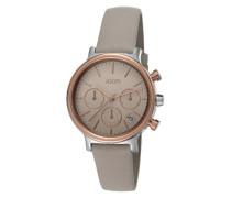 Chronograph »Carla Warm Grey/rosegold Jp101502003« grau