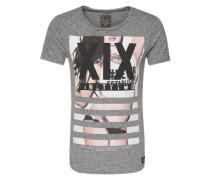 Shirt 'photo Girl' grau