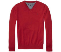 Pullover 'ame Tommy VN Sweater L/s' rot