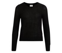 Strick-Bluse schwarz