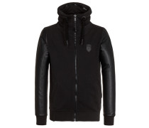 Male Zipped Jacket BG Black schwarz