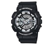 Chronograph 'ga-110Bw-1Aer' schwarz / weiß