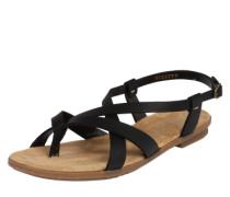 Riemchen-Sandale schwarz