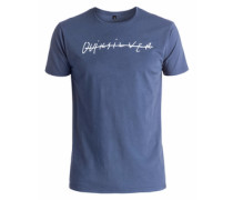 T-Shirt »Logo Quik Signature« blau