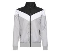 Übergangsjacke 'Arrow Zip Jacket' hellgrau / schwarz / weiß