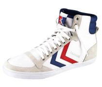 Slimmer Stadil Canvas High Sneaker weiß