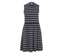 Kleid mit Streifenmuster navy / weiß