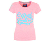 T-Shirt 'The Real' pink