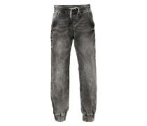Sweatjeans Slim für Jungen grau / schwarz