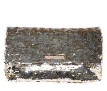 Clutch mit Pailletten-Beastz gold / silber