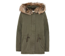 Winterparka 'cotton parka with fur collar' oliv