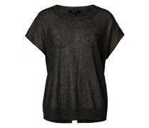 Gestricktes T-Shirt schwarz