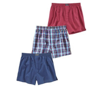 Boxershorts (3 Stück) blau / rot
