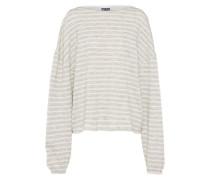 Oversize Pullover hellgrau / weiß