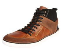Sneaker aus Ledermix braun