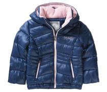 Winterjacke für Mädchen blau / altrosa