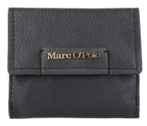 'Combi Wallet M' Geldbörse Leder 12 cm schwarz