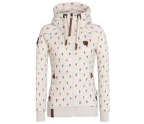 Zipped Jacket 'Komm Kloppe' beige