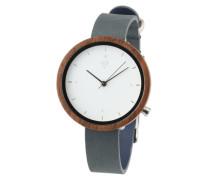 Armbanduhr 'Hilde' taubenblau / braun