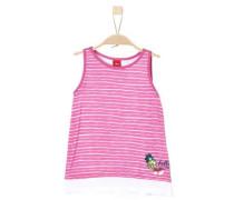 Layer-Top mit Patches pink / weiß