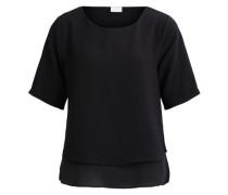 Faltenabschlussdetail-Bluse 'visealo Pleated 2/4 Top' schwarz