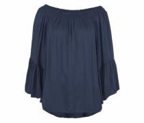 Off-Shoulder Shirt dunkelblau