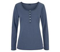 Basic-Pyjama in melierter Qualität mit Knopfleiste