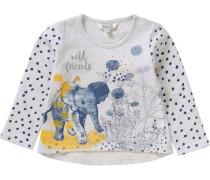 Sweatshirt für Mädchen beigemeliert / himmelblau / gelb