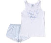 Schlafanzug hellblau / weiß