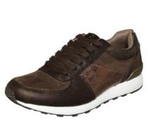 Sneaker mit Metallic-Effekten braun / gold