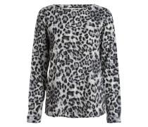 Rückenfreie Langarmbluse 'Leopard' mischfarben