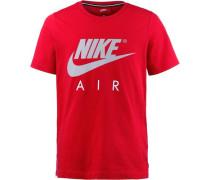T-Shirt Jungen hellgrau / rot