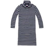 "Kleid ""thdw EUR Polo Dress 3/4 SLV 1"" navy / weiß"