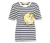 T-Shirt 'timoji' marine / gelb / weiß