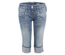 3/4-Jeans im Used-Look 'Pitch' blau